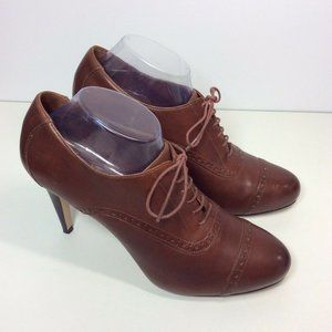 "COLE HAAN Womens 11 B Brown Leather 4"" Heel Shoes"